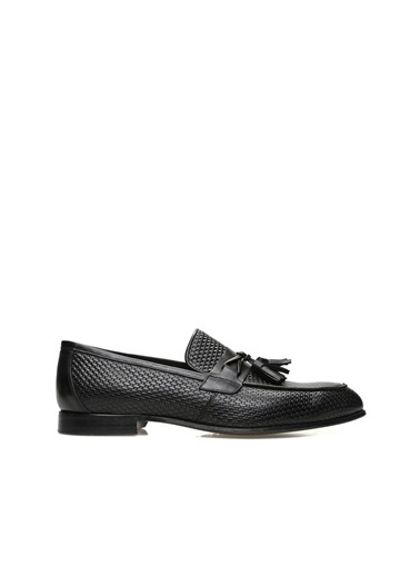 Divarese Divarese 5024546 Püskül Detaylı Erkek Deri Ayakkabı Siyah